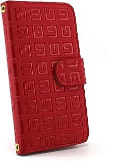 ホワイトナッツ AQUOS SERIE mini SHV31 スマホケース 手帳 雷文柄 レッド ケース アクオス セリエ ミニ 手帳型 カバー スマホカバー WN-OD036091_M