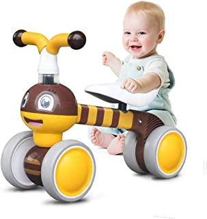 Ancaixin Baby Balance Bikes Children Walker for 10-36 Month, Developmental Bicycle Toys for 1 Year Old Boys Girls, No Pedal Infant 4 Wheels, Toddler Top First Birthday Gift