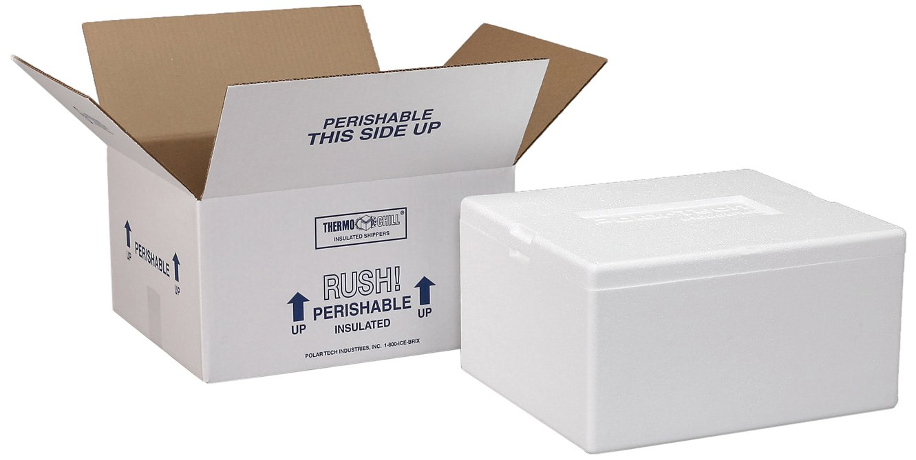 Polar Tech Our shop OFFers the best service 293C Thermo Chill Sales Foam Carton with Insulated Shipper