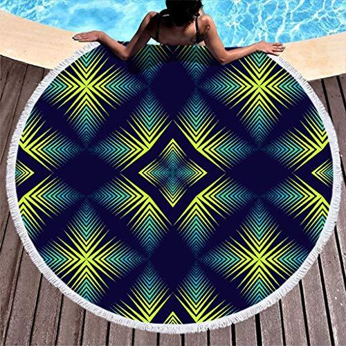 YxueSond Rond Beach Towel Psychedelisch mandala zwemmen tafelkleed strandlaken zwembad handdoek