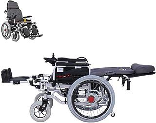 Sillas de ruedas eléctricas para adultos Silla de ruedas eléctrica for trabajo pesado con grandes ruedas, impulsado silla de ruedas plegable del asiento 250W * 2 Doble Motor Ancho 46cm 360 ° Joystick