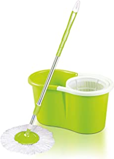 Royalford Easy Spin Mop and Bucket Set | 360 Degree Spinning Mop Bucket Home Cleaner| Extended Easy Press Stainless Steel ...