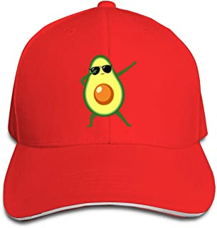 Dabbing Avocado with Sunglasses Adjustable Baseball Sandwich Hat Cap for Unisex