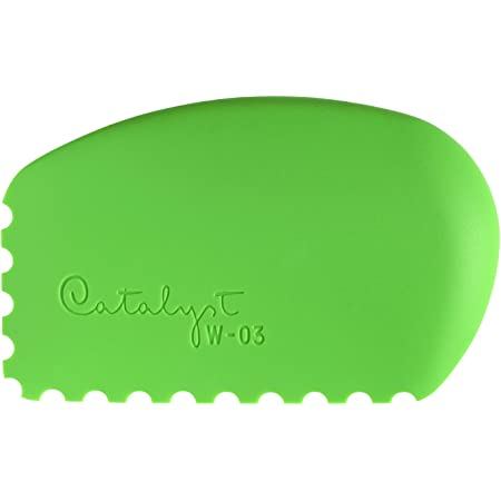 Princeton Catalyst Tools, Art Supplies for Texturizing and Moving Paint, Wedge- Green