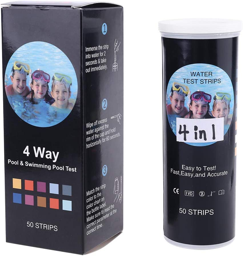 Mail order J-FEIFEI 50strips Water Quality Test Hardness 4in1 Jacksonville Mall pH Strip