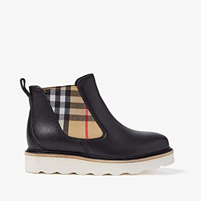 Burberry Kids Hayden Boot (Toddler/Little Kid) (Black) Kids Shoes