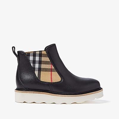 Burberry Kids Hayden Boot (Toddler/Little Kid) (Black) Kids Shoes