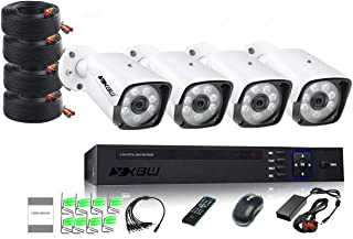 XBW 4Channel CCTV security Kit 1080P/2.0MP 1920X1080 Camera 4CH Surveillance DVR kit with 8pcs 2.0mp 1080P Metal Outdoor B...