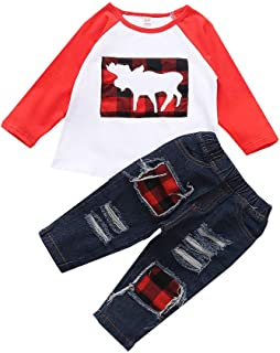 Pantalones K-Youth Chandal Bebe Ni/ño Conjunto Bebe Ni/ña Navidad Pap/á Noel Reno Sudadera Ni/ños Deportes Invierno Ropa Bebe Recien Nacido Camisetas Ni/ñas Oto/ño Tops Sombrero