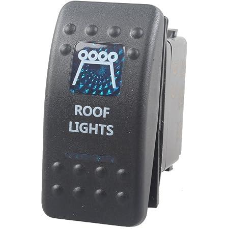 Mintice Trade 12v Kfz Blau Led Licht Beleuchtet Wippenschalter Kippschalter Auto Armaturenbrett Schalter Roof Light Auto