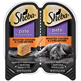SHEBA PERFECT PORTIONS Wet Cat Food Paté in Natural Juices Roasted Chicken & Liver Entrée, (24)...
