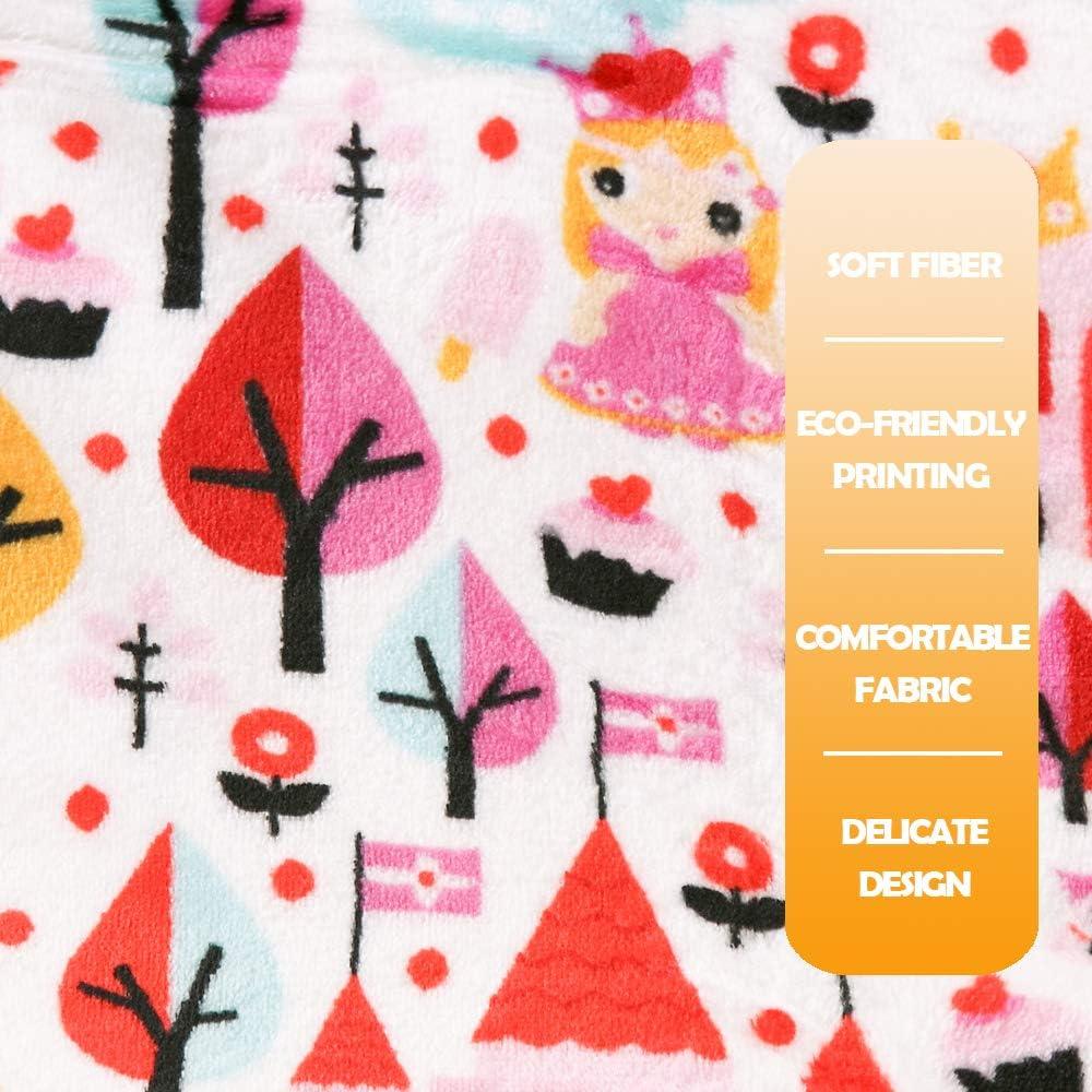 i-baby Baby Blanket Gilrs Ultra Soft Baby Fleece Blanket Flannel Kids Infant Swaddle Wrap 4 Seasons Fantasy Castle