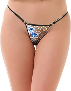 Lola Dola Women Ladies Girls Polyamide G.String Panty Set of 01 (Multi, Free)