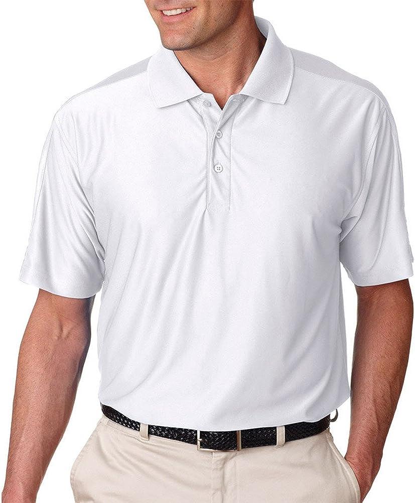 Ultraclub Men'S Cool & Dry T Elite Performance Polo Shirt, WHITE, XX-Large Tall