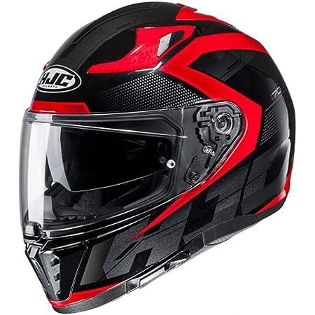 Hjc Helmets Herren Nc Motorrad Helm Schwarz Rot L Auto