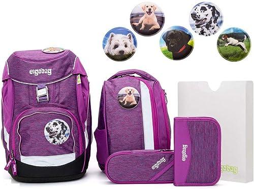 Ergobag Pack Set 6tlg Insel HoppB mit Wunschkletties Hunde