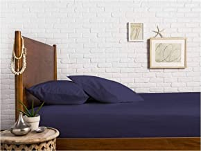Mayfair Linen 100% Egyptian Cotton Sateen Weave 800 Thread Count Full Fitted Sheet with Elastic All Around - Fits Mattress Upto 18 inches Plum