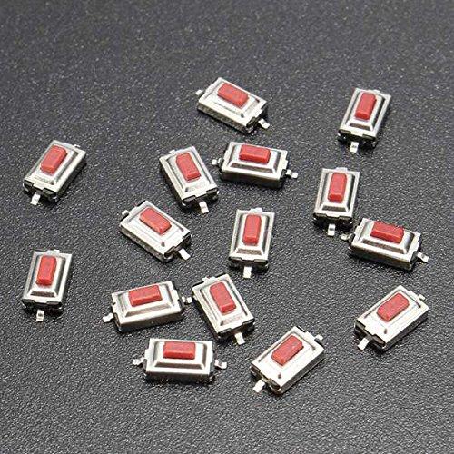 LaDicha 15Pcs 3X6X 2.5 Mm Momentanée Tact SMD SMT Bouton Poussoir Micro Switch 2 Broches