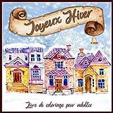 Joyeux hiver - Livre de Coloriage pour adultes: Dessins de Fêtes de Fin d'Année , Cahier de coloriage pour adultes | Magnifiques Dessins De Noël | Le ... de Noël - (Joyeux Noël et Bonne Année)
