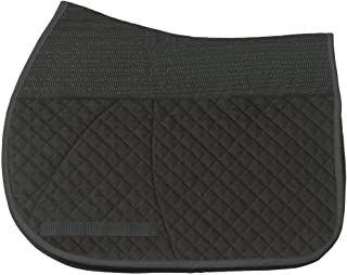 Success Equestrian Deluxe Jumper All Purpose A/P NO Slip Saddle Pad, Black, Medium