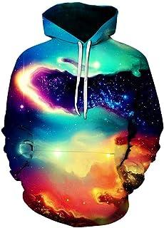 Men's Hoodie Unisex 3D Print Hoodies Hooded Sweater Long Sleeve Galaxy Colorful Warm Sweatshirt Hooded Jacket Breathable S...