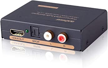 iArkPower HDMI Audio Extractor Splitter HDMI to HDMI + Optical + RCA L/R Stereo Audio Out Supports 3D, 1080P(50/60HZ)