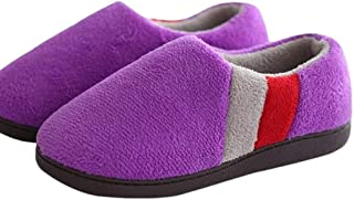Men's and Women's Large Size Winter Bag with Slippers Home Household Cotton Mop Men's Warm Indoor Non-Slip Slippers Warmer Soft Plush Home Shoes (Color : Purple, Size : 41-42 Yards)