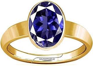 Divya Shakti 11.25-11.50 Carat Iolite/Neeli Gemstone Panchdhatu Adjustable Plain Design Ring for Men & Women