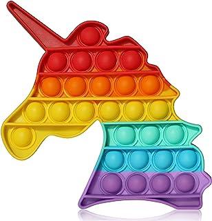 لعبة تفاعل فقاعات حسية على شكل وحيد القرن من بوب ات، لعبة تفاعل حسي لتخفيف التوتر، لعبة تعليمية هدية بالوان قوس قزح