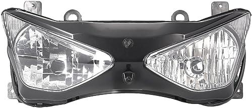Mallofusa Clear Front Headlight Assembly Motorcycle Headlamp For Kawasaki Ninja ZX636 ZX6R 2003 2004