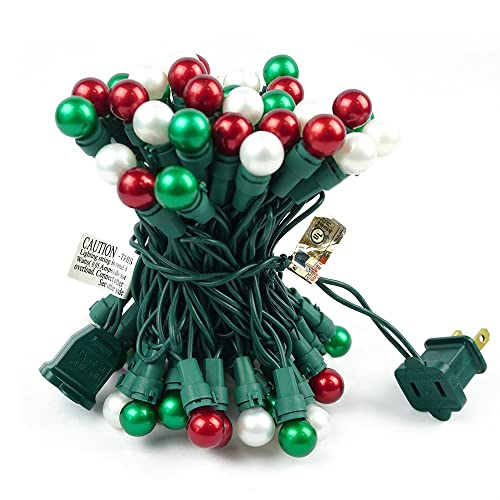 BOHON Christmas String Lights Indoor 19FT 70 LED Outdoor String Lights with Pearlized Glass Bulbs,