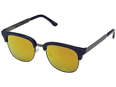 Spy Optic Stout (Navy Gunmetal/Gray w/ Gold Mirror) Fashion Sunglasses