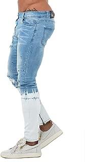 Men's Biker Jeans Skinny Ripped Stretch Denim Jeans Pants