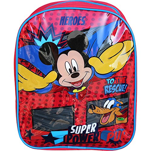 Disney Mickey Mouse Superhero Red Mini Toddlers Travel Backpack Bag