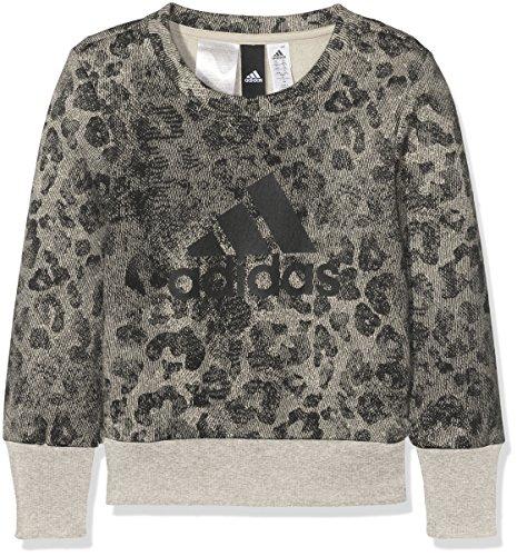 adidas adidas Crew Mädchen Sweatshirt, grau (Mgsogr/Black/Black), 128