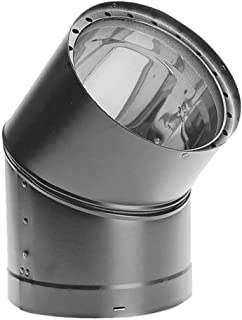 Simpson Duravent 6DVL-E45 Double-Wall Air-Insulated 45-Degree Adjustable Elbow, Offsets Obstructions As Needed, 6-Inch, Black