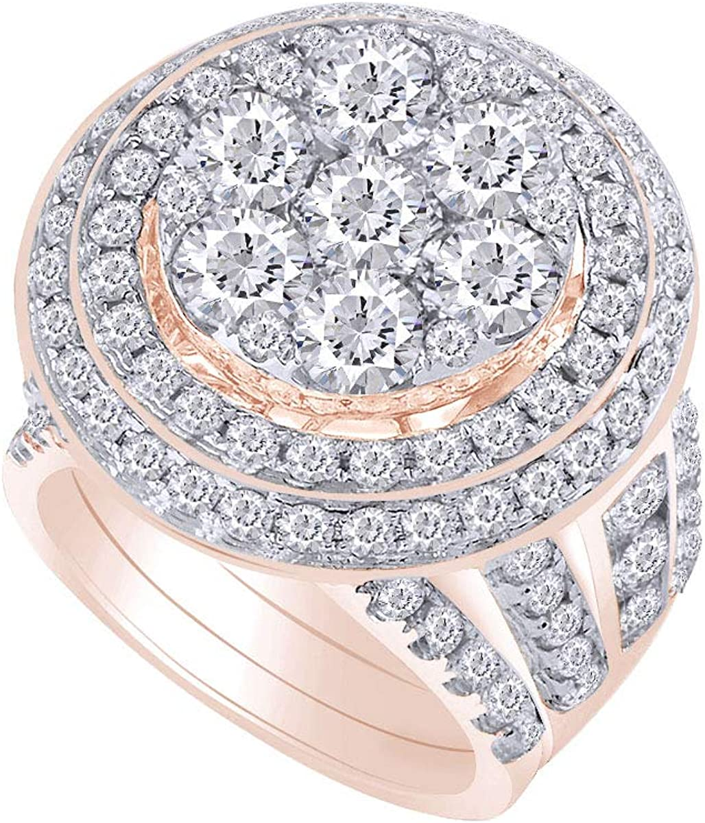 14kt Solid Gold Womens Round Weekly Reservation update Enga Bridal Cluster Diamond Wedding