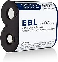 EBL CR-P2 Batteries, 6V 1400mAh Lithium Photo Battery Replaces 223A DL223A EL223AP