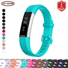 FunBand for Fitbit Alta HR and Alta Strap Bands,Classic Soft Silicone Sport Adjustable Replacement Accessory Bracelet Bands (Small or Large Size) for Fitbit Alta (2016) and Fitbit Alta HR (2017) Fitness Wristband (1-Pack Teal)
