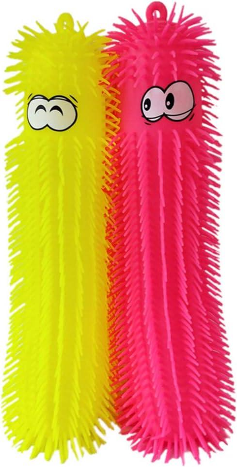 NUOBESTY 2PCS Caterpillar Max New life 61% OFF Puffer Toys Ball Puffe Light Up