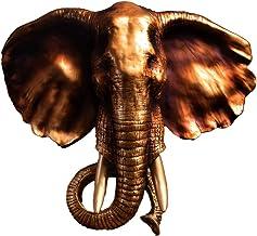 منحوتات الحائط الرئيسية الإبداعية الفيل تمثال معلق على الحائط ، ديكور رأس حيوان منحوت يدويًا ، تمثال رأس حيوان من الراتنج ...