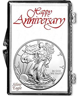 1995-1 Ounce American Silver Eagle 25th Anniversary in Holder Dollar Uncirculated Us Mint