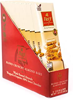 Frey Chocolat Blond Crunchy Almond Bar - 3 oz - 24 Pack Chocolates