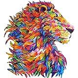 Yarmy Rompecabezas de Madera para Adultos y niños, Rompecabezas de Madera con Forma de león, Pieza de Rompecabezas de Bricolaje con Forma de Animal, Adultos y niños