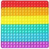 JSG. Push Pop XXL Bubble Burbuja Silicona, Juguete Antiestres Educativo para aliviar el estrés, Necesidades Especiales silenciosas (30 X 30 CM, Multicolor)
