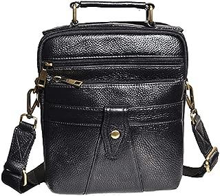 Shoulder Bag,Men's Genuine Leather Messenger Handbag,Crossbody Bag,Black Briefcase
