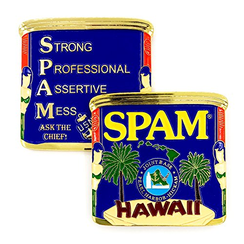 US Navy SPAM CPO (Strong Professional Assertive Mess Chief Petty Officer) Joint Base Pearl Harbor-Hickam, Hawaii Ask The Chief! Challenge Coin