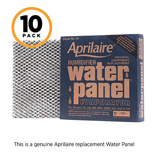Aprilaire 10 Replacement Water Panel for Aprilaire Whole House Humidifier Models 110, 220, 500, 500A, 500M, 550, 558 (Pack of 10)