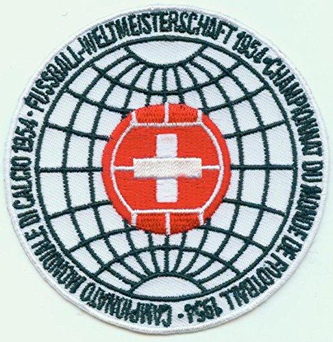 Patch 1954-5* Coppa del Mondo Svizzera FIFA Calcio Toppa termoadesiva Ricamo cm cca 9 Replica - 1376