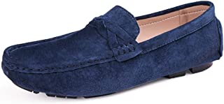 Men Loafers Quality Genuine Leather Shoes Men Flats Driving Shoes